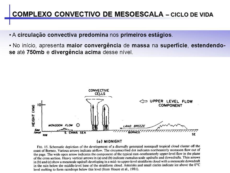 COMPLEXO CONVECTIVO DE MESOESCALA – CICLO DE VIDA