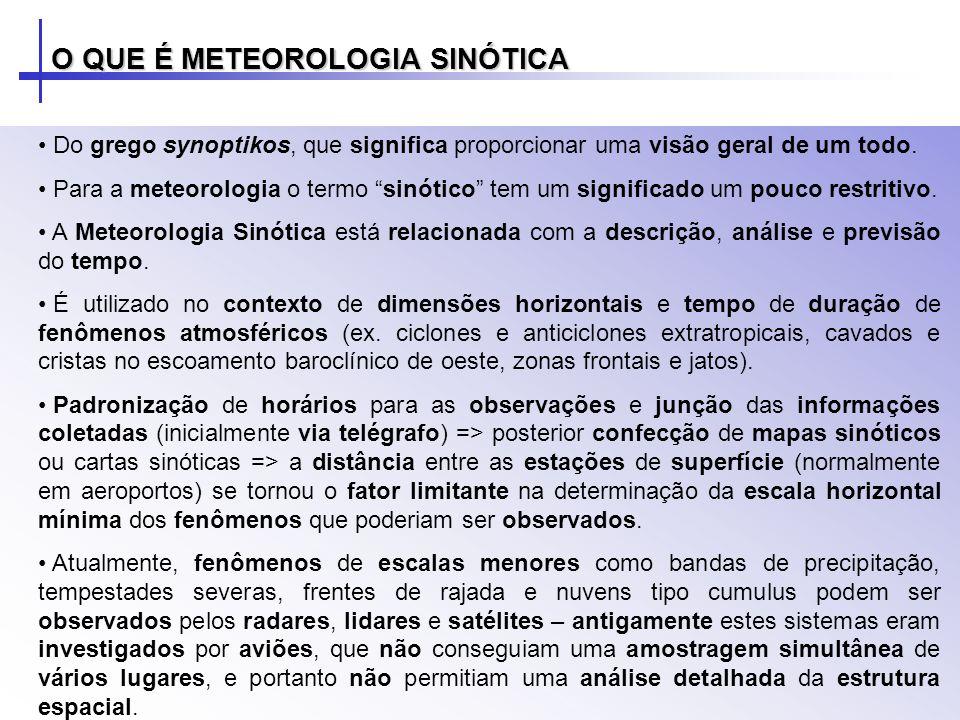 O QUE É METEOROLOGIA SINÓTICA