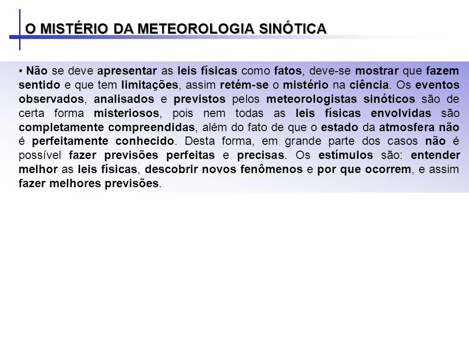 O MISTÉRIO DA METEOROLOGIA SINÓTICA