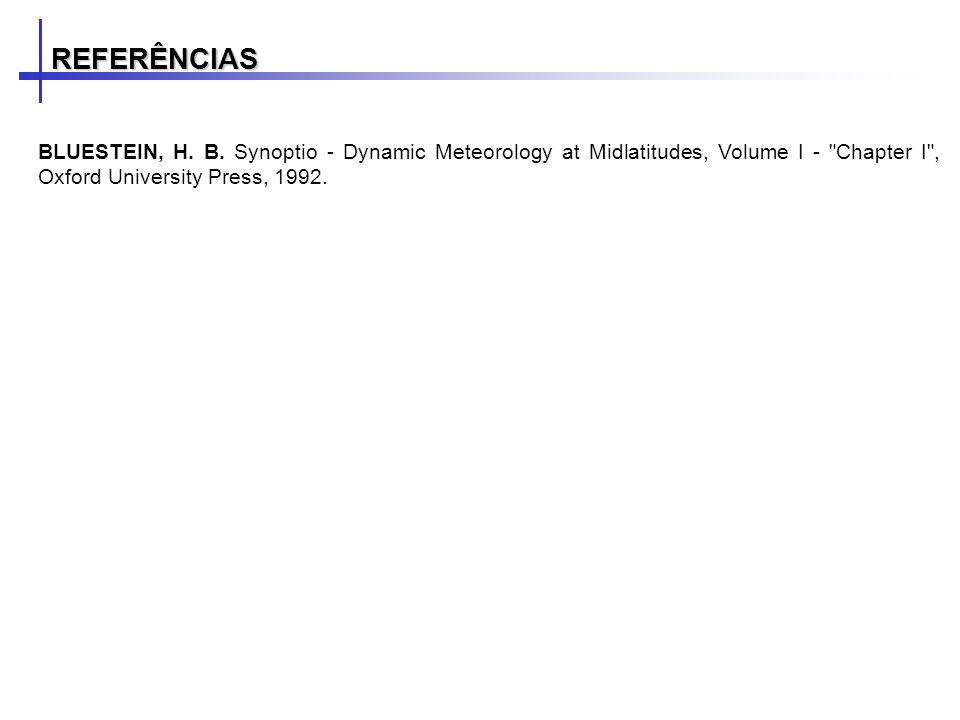 REFERÊNCIAS BLUESTEIN, H. B.