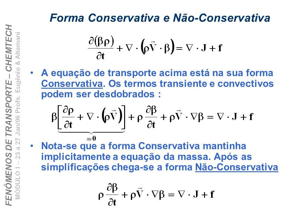 Forma Conservativa e Não-Conservativa