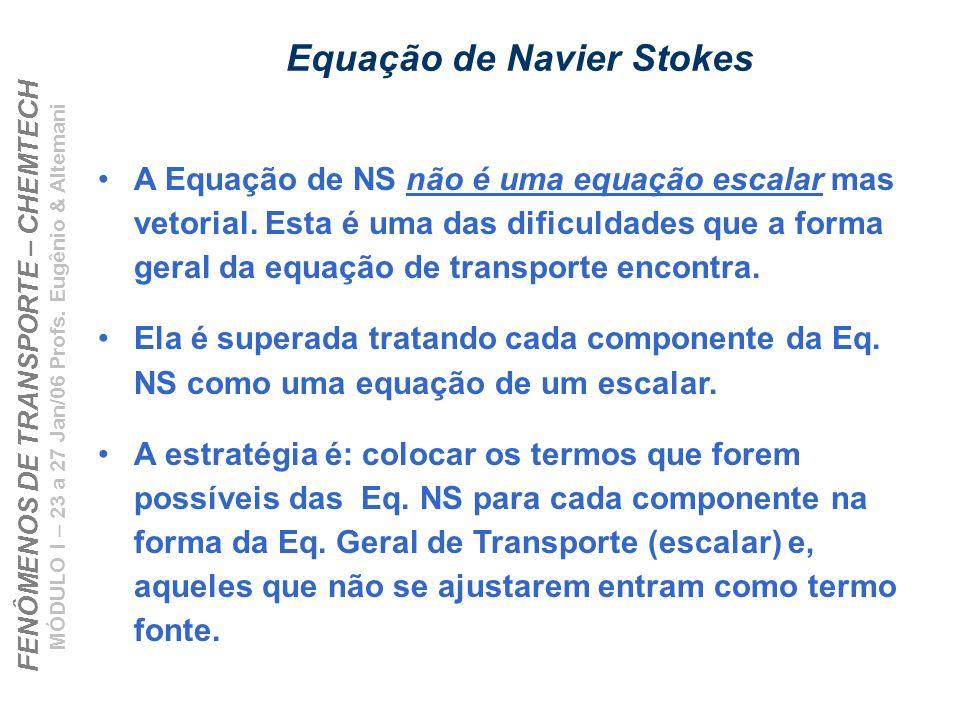 Equação de Navier Stokes