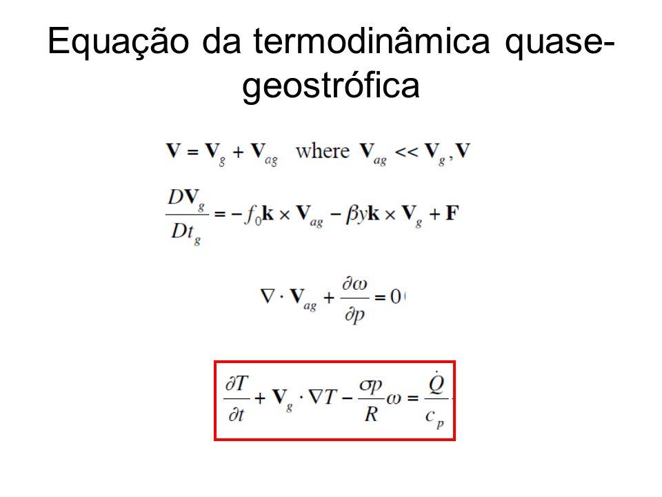 Equação da termodinâmica quase-geostrófica