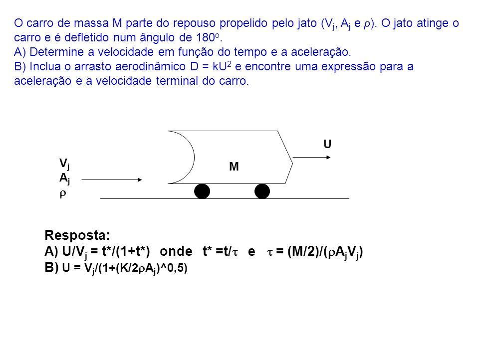 A) U/Vj = t*/(1+t*) onde t* =t/t e t = (M/2)/(rAjVj)