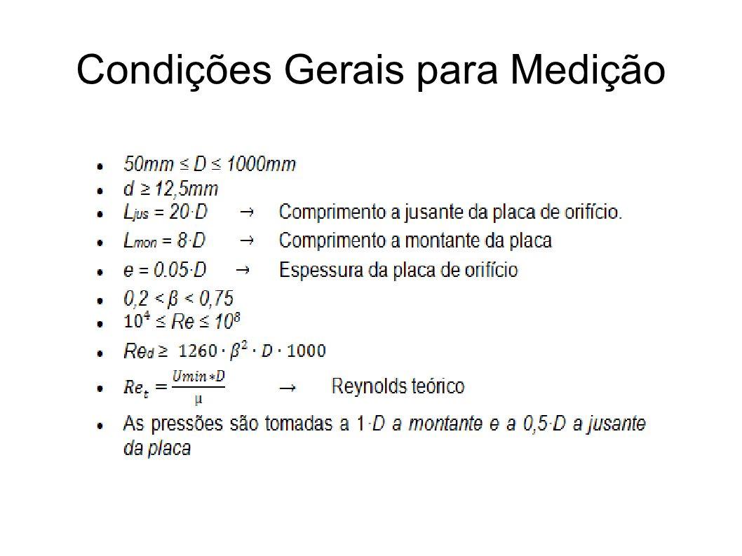 Condições Gerais para Medição