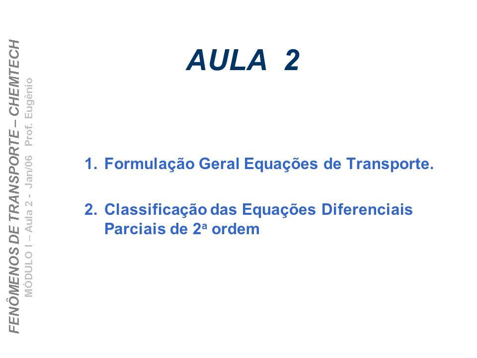 AULA 2 Formulação Geral Equações de Transporte.