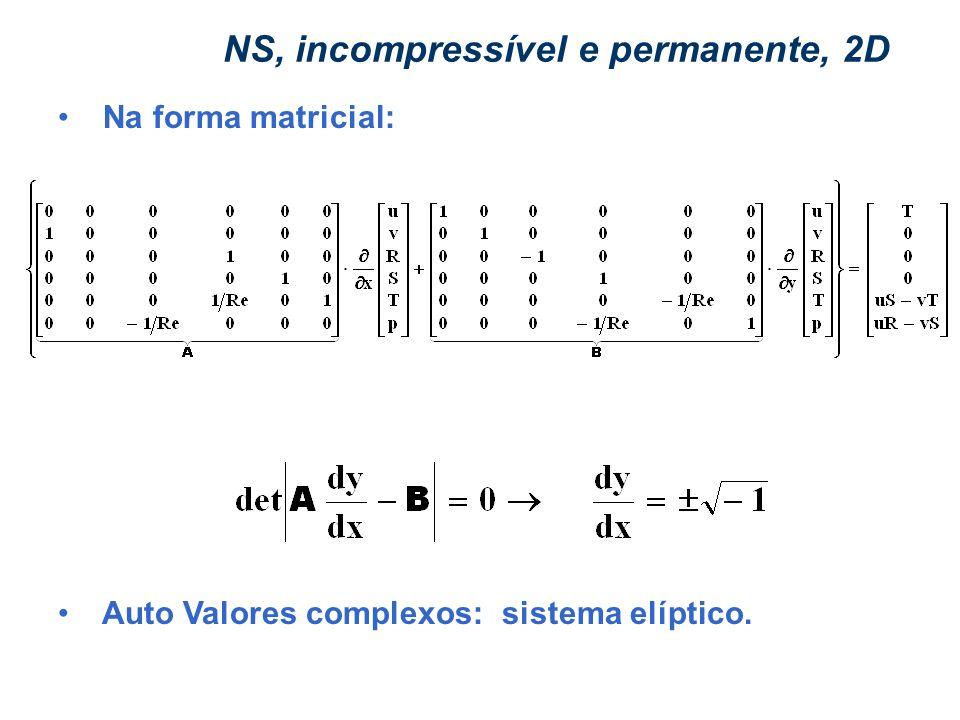 NS, incompressível e permanente, 2D