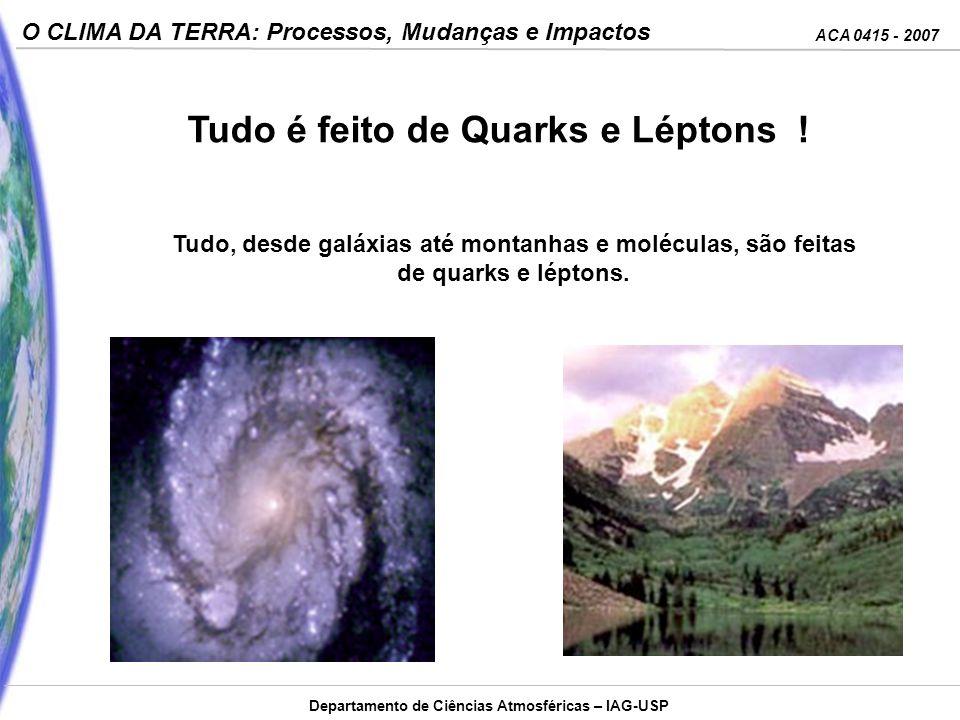 Tudo é feito de Quarks e Léptons !