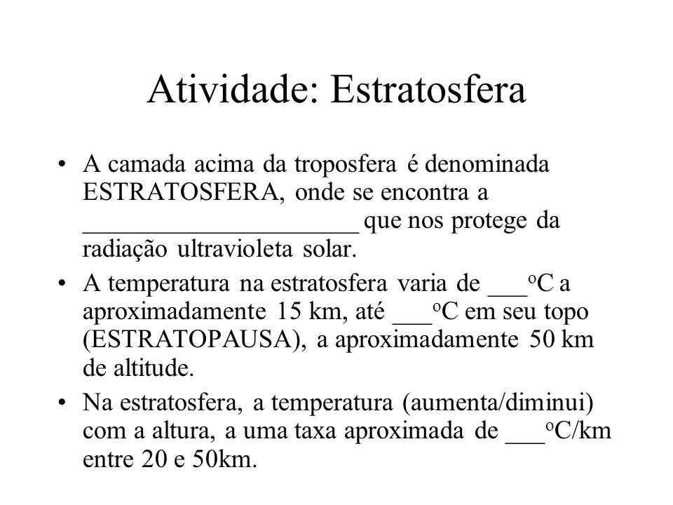 Atividade: Estratosfera