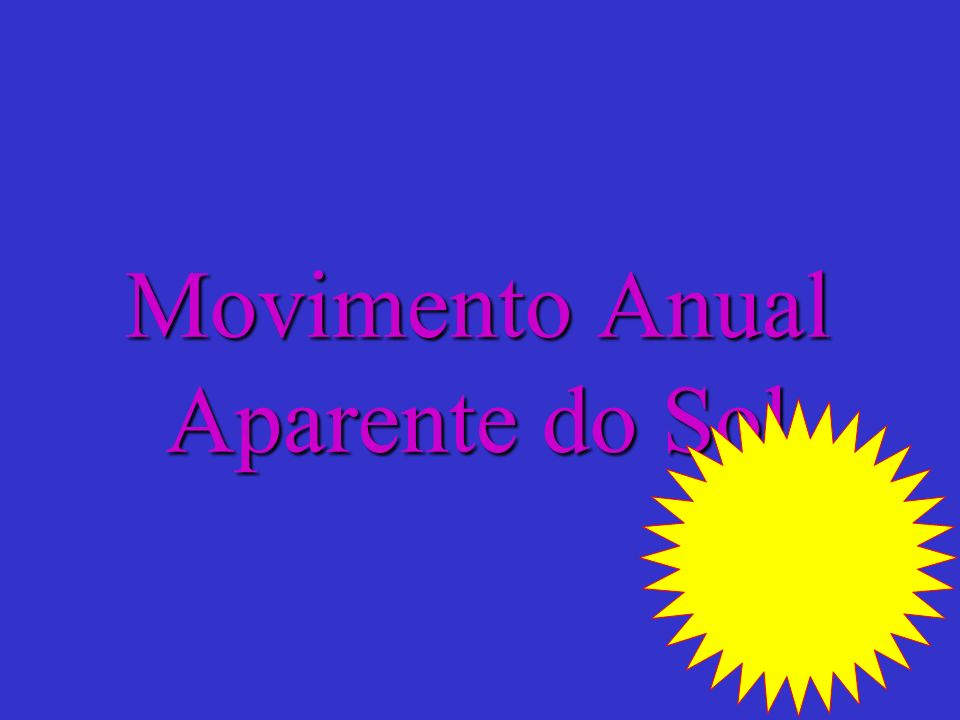 Movimento Anual Aparente do Sol