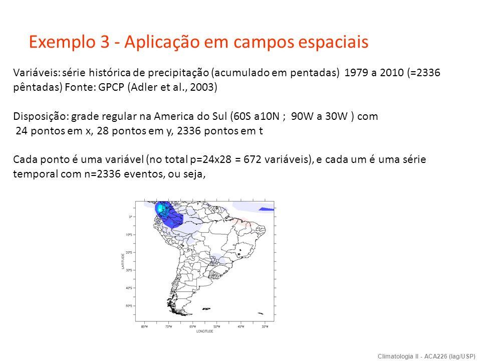 Exemplo 3 - Aplicação em campos espaciais