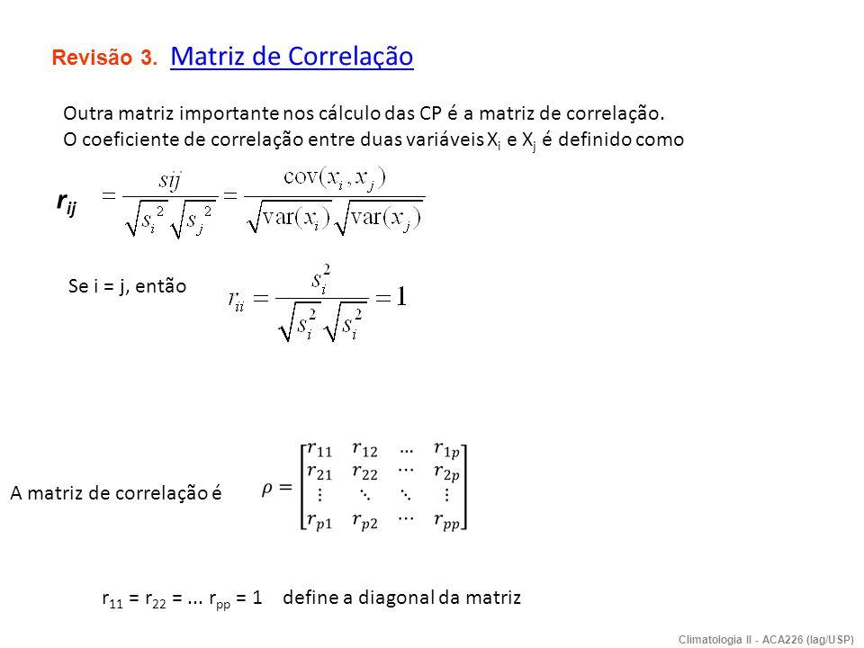 rij Revisão 3. Matriz de Correlação