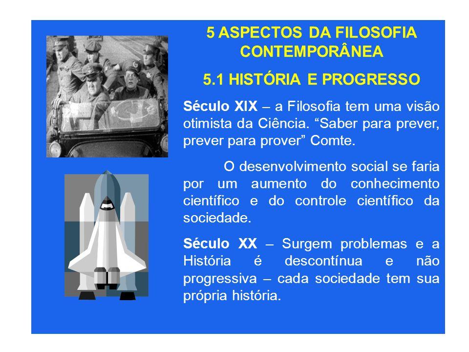 5 ASPECTOS DA FILOSOFIA CONTEMPORÂNEA