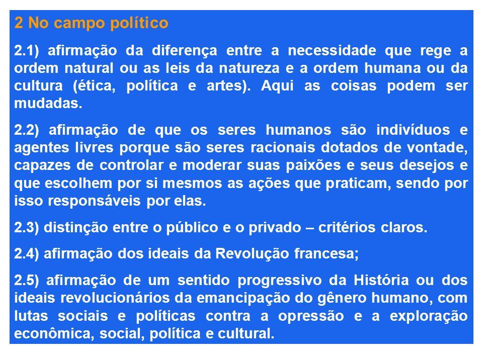 2 No campo político