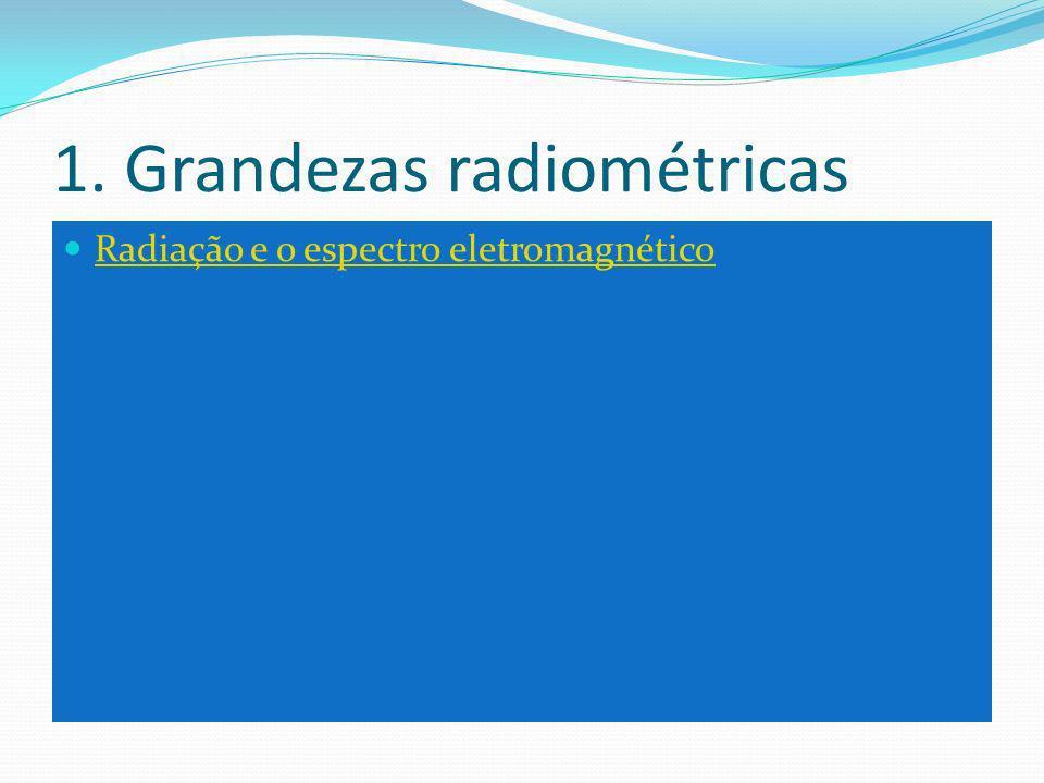 1. Grandezas radiométricas