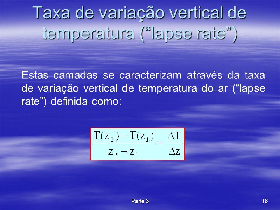 Taxa de variação vertical de temperatura ( lapse rate )