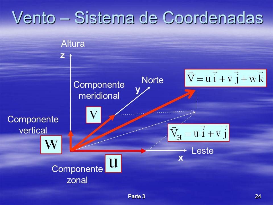 Vento – Sistema de Coordenadas