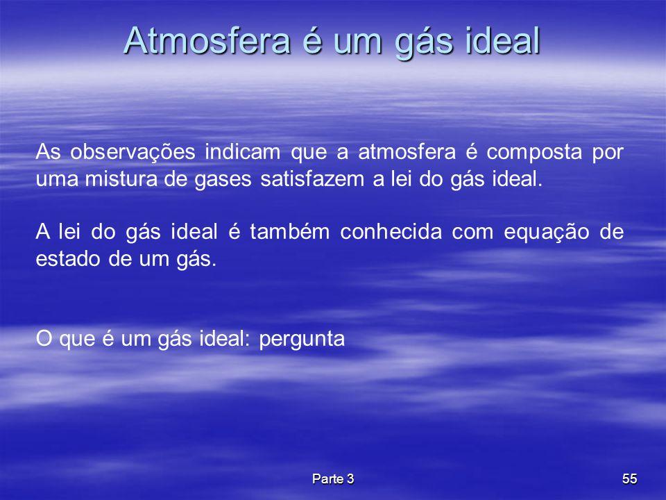 Atmosfera é um gás ideal
