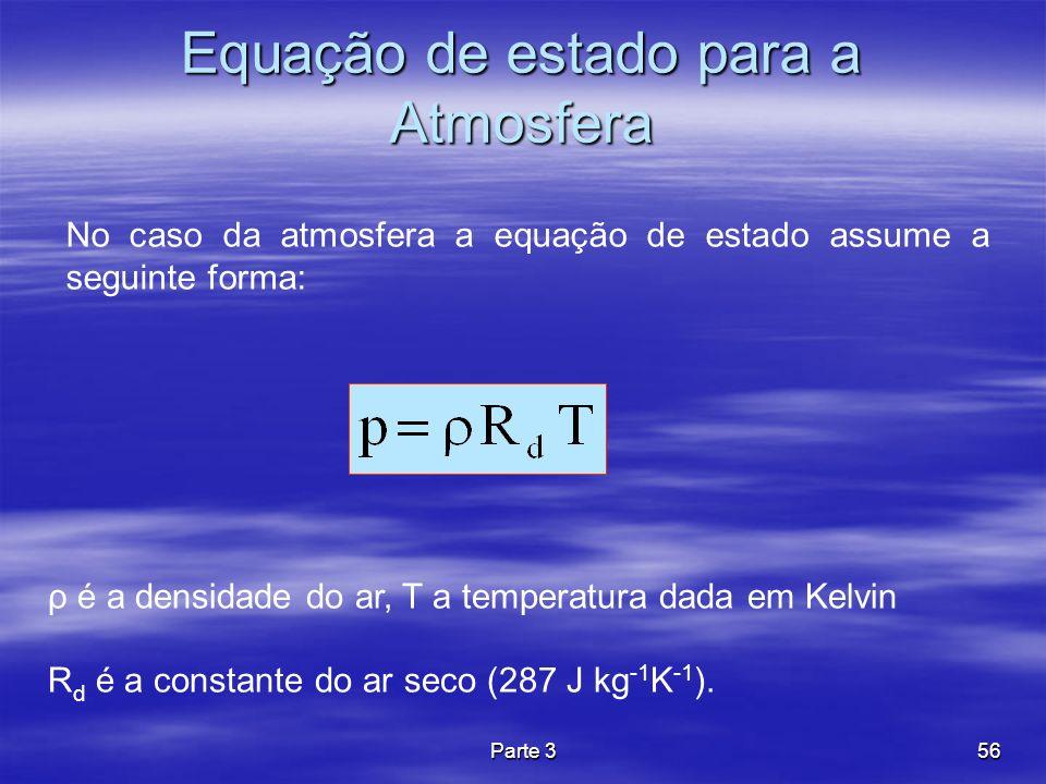 Equação de estado para a Atmosfera