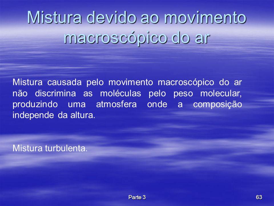 Mistura devido ao movimento macroscópico do ar