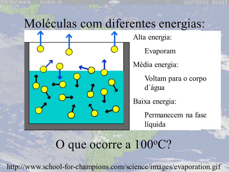 Moléculas com diferentes energias: