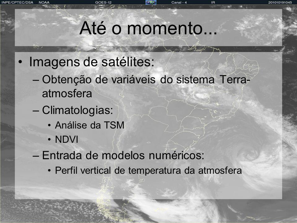 Até o momento... Imagens de satélites: