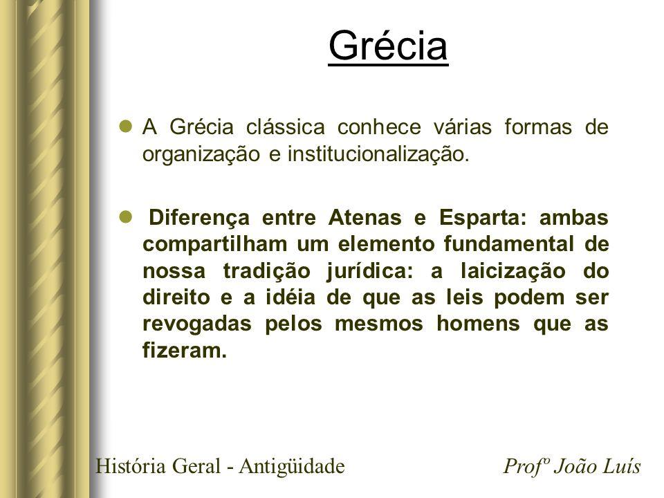 GréciaA Grécia clássica conhece várias formas de organização e institucionalização.