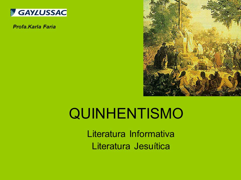 Literatura Informativa Literatura Jesuítica
