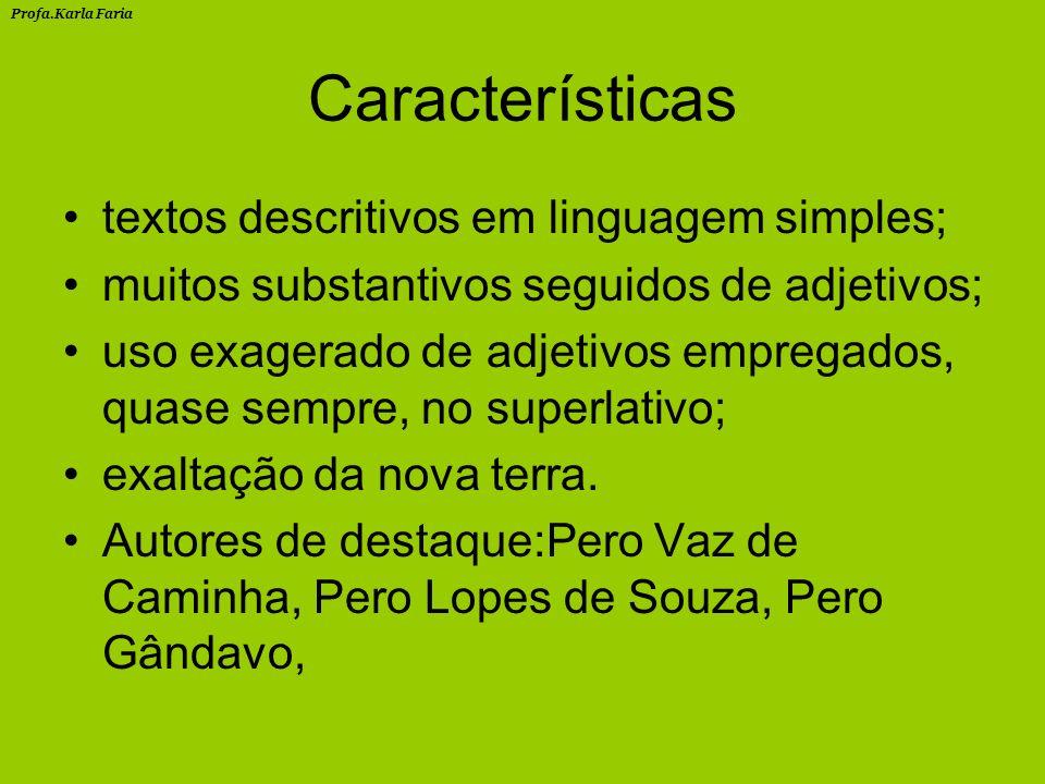 Características textos descritivos em linguagem simples;