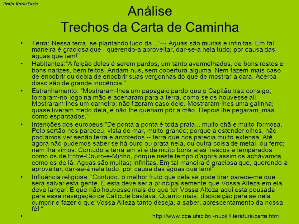 Análise Trechos da Carta de Caminha