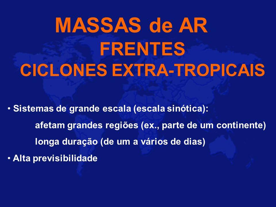 MASSAS de AR FRENTES CICLONES EXTRA-TROPICAIS