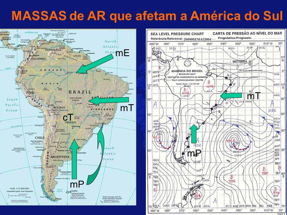 MASSAS de AR que afetam a América do Sul