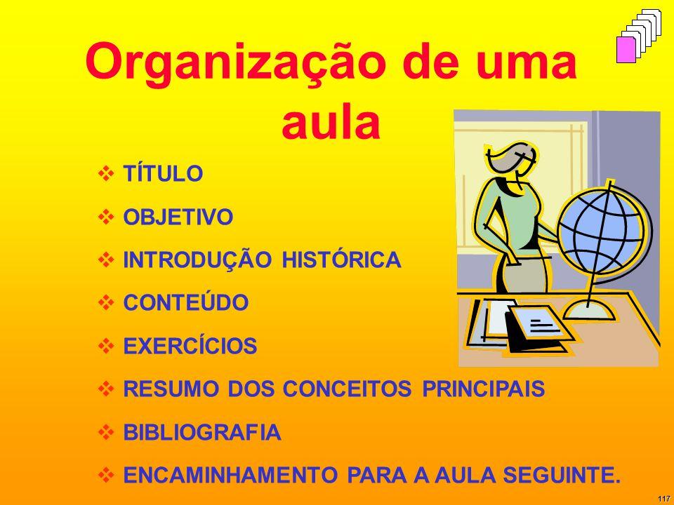 Organização de uma aula