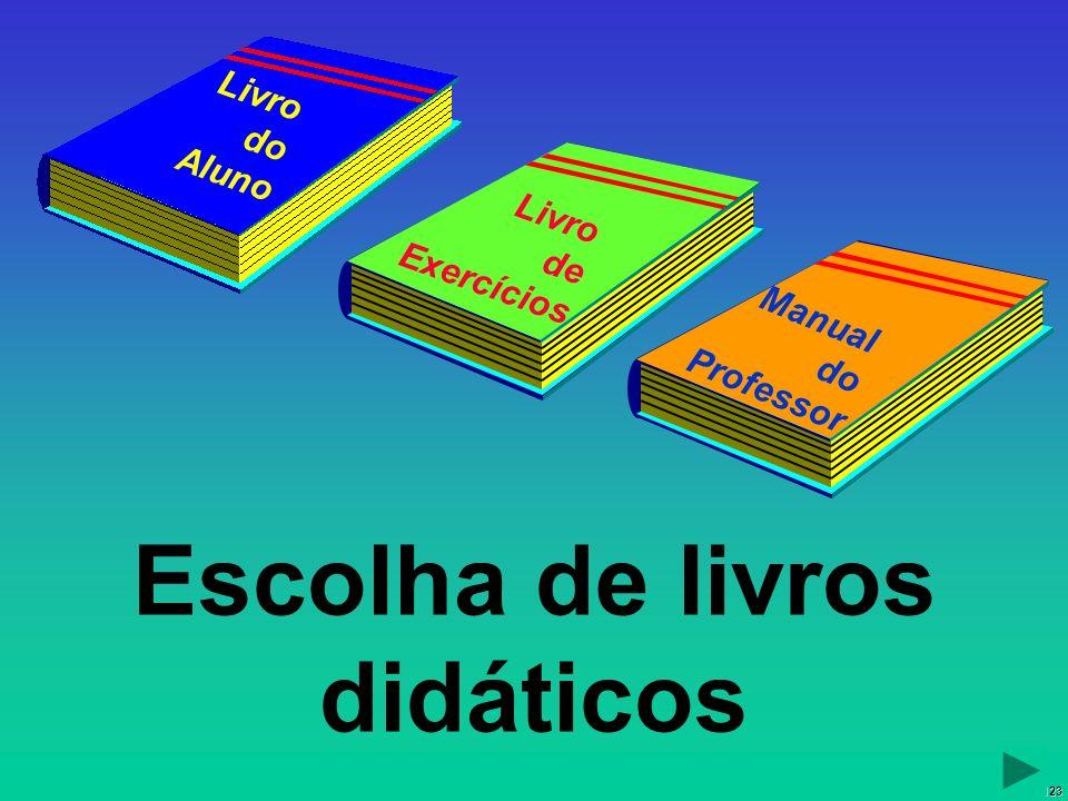 Escolha de livros didáticos