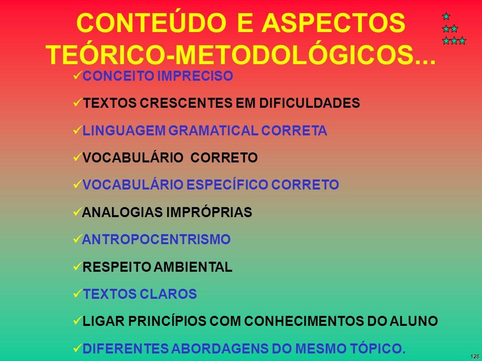 CONTEÚDO E ASPECTOS TEÓRICO-METODOLÓGICOS...