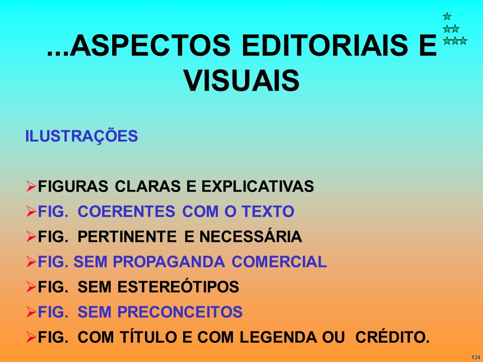 ...ASPECTOS EDITORIAIS E VISUAIS