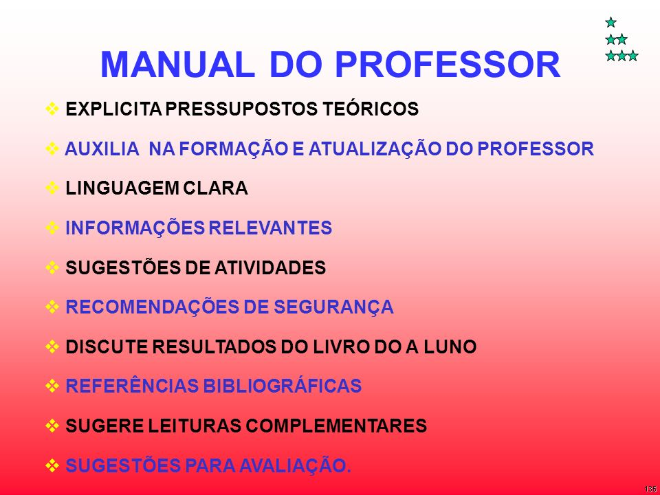 MANUAL DO PROFESSOR EXPLICITA PRESSUPOSTOS TEÓRICOS