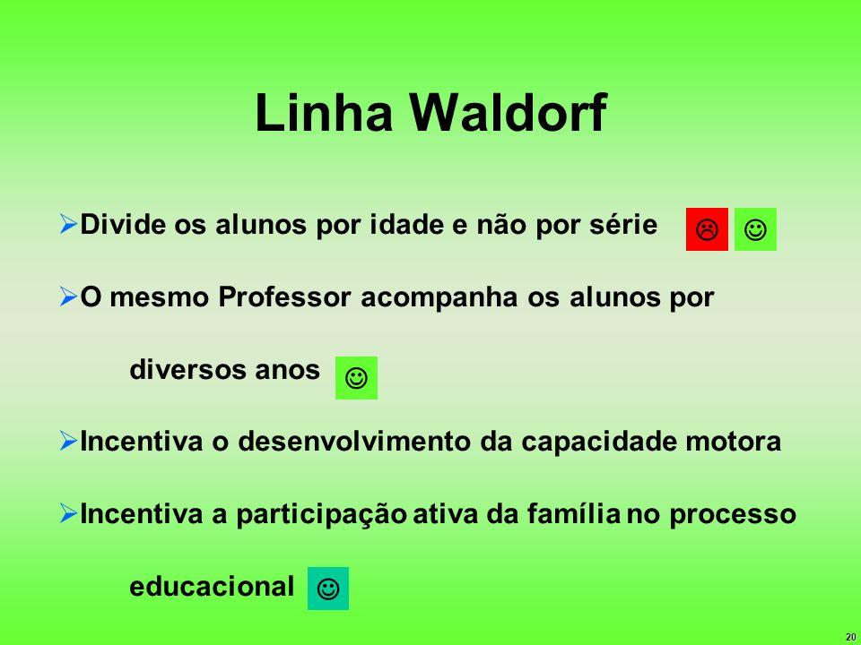 Linha Waldorf Divide os alunos por idade e não por série