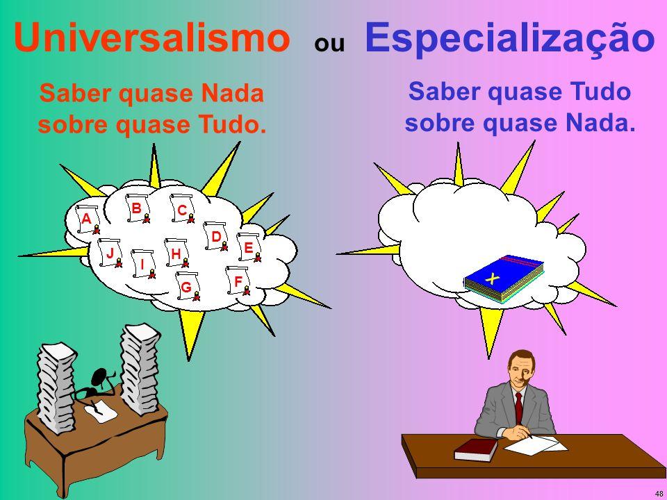 Universalismo ou Especialização