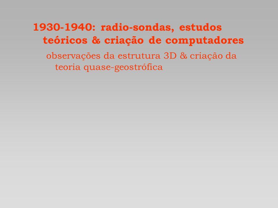 1930-1940: radio-sondas, estudos teóricos & criação de computadores