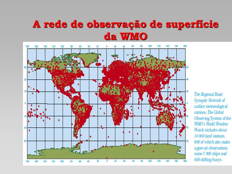A rede de observação de superfície da WMO