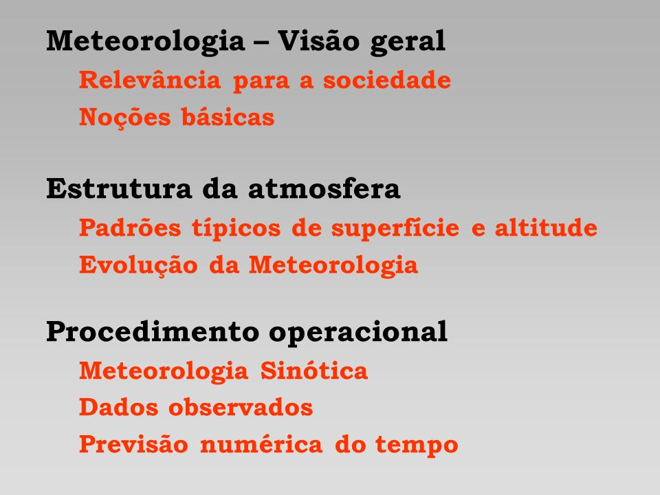Meteorologia – Visão geral