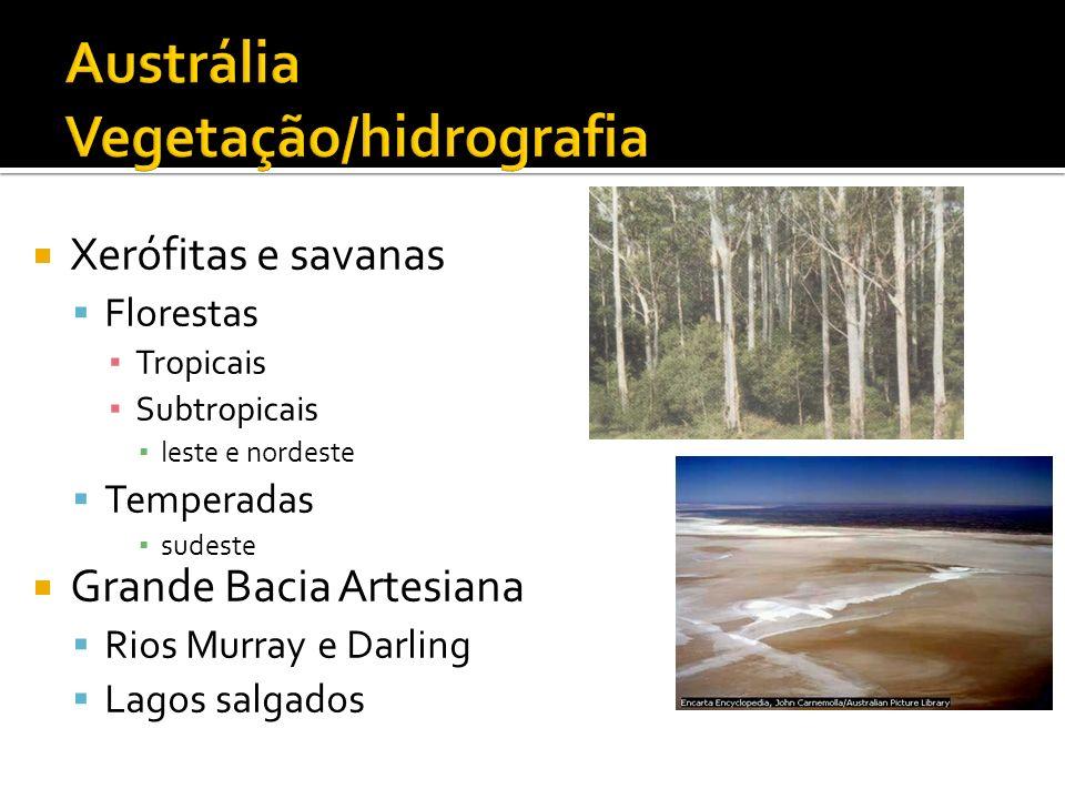Austrália Vegetação/hidrografia