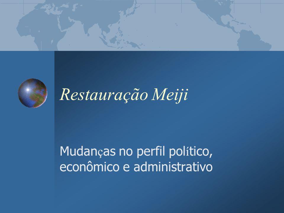 Mudanças no perfil político, econômico e administrativo