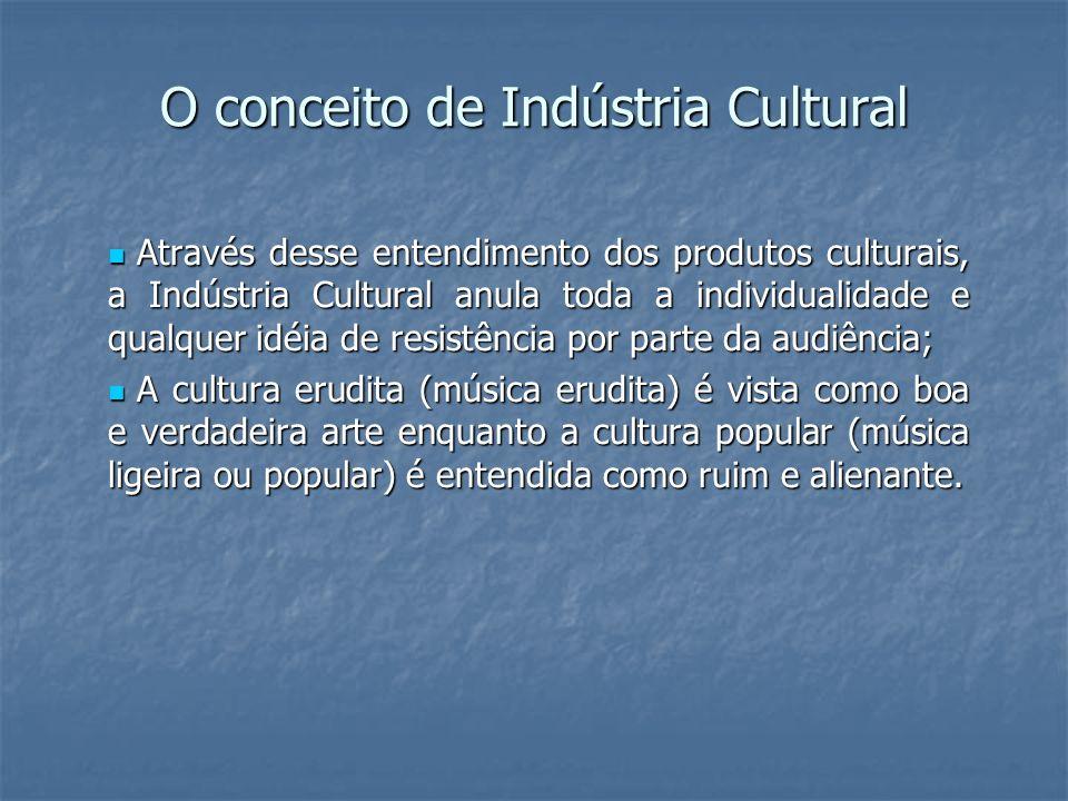O conceito de Indústria Cultural
