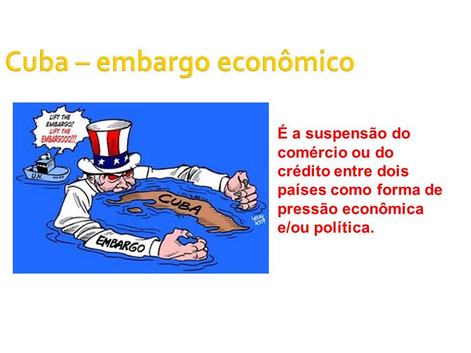 Cuba – embargo econômico