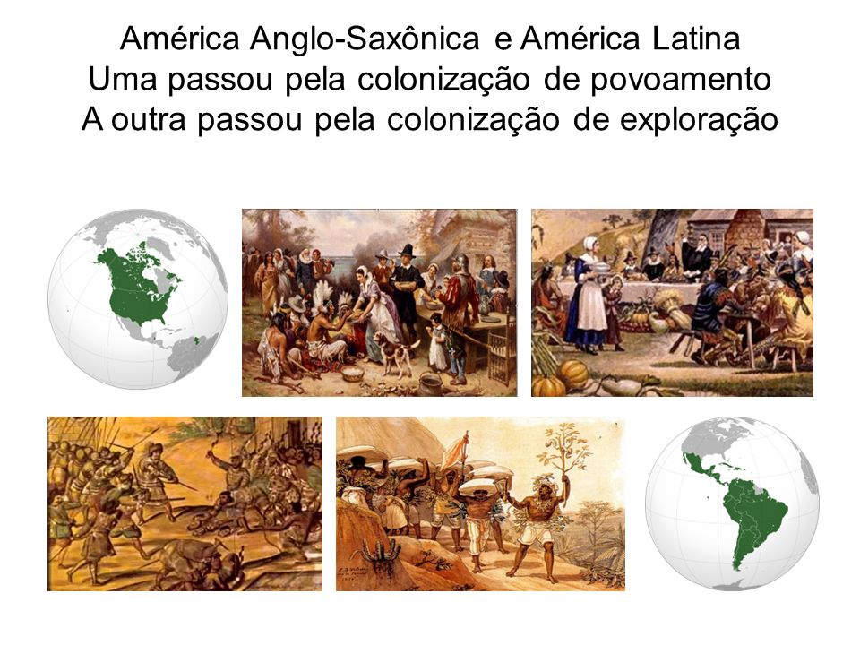 América Anglo-Saxônica e América Latina