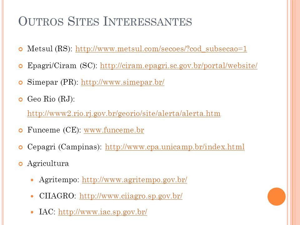 Outros Sites Interessantes