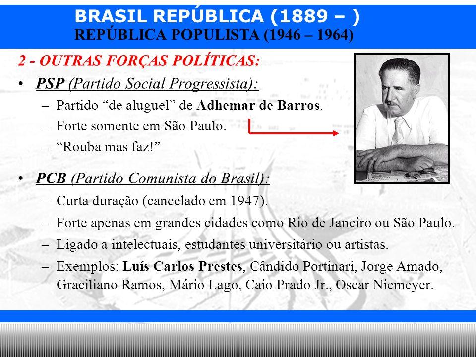 2 - OUTRAS FORÇAS POLÍTICAS: PSP (Partido Social Progressista):