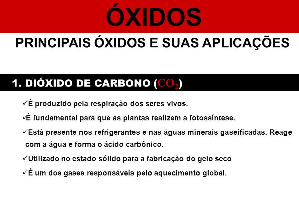 PRINCIPAIS ÓXIDOS E SUAS APLICAÇÕES